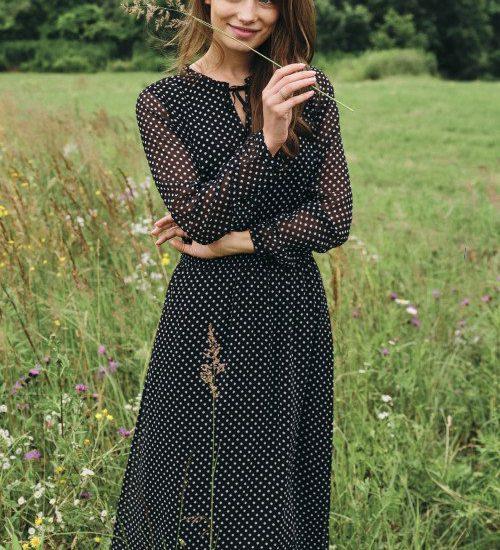 elegancka sukienka na jesień