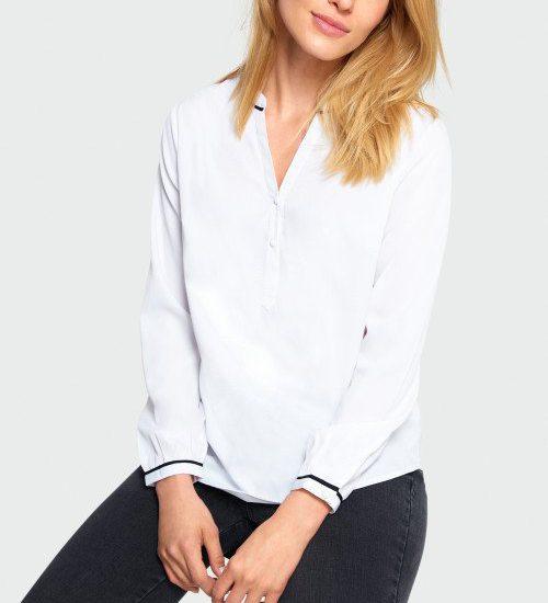 elegancka biała bluzka koszulowa